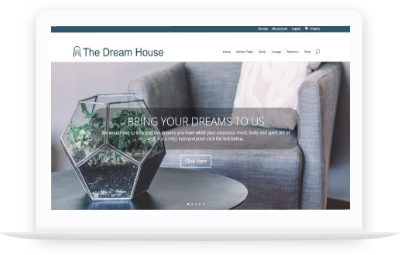 website portfolio - The Dream House website