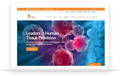 Tissue Solutions website